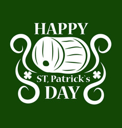 Saint patrick day symbol of green ale beer pub vector
