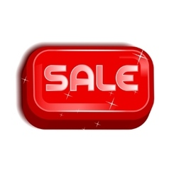 Sale Red Icon Button vector