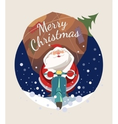 Santa Claus riding scooter vector image