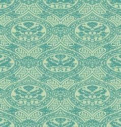 seamless floral antique pattern blue light vector image