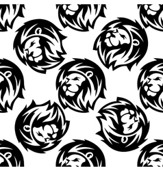 seamless pattern a proud lion vector image