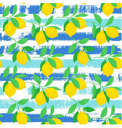 Seamless pattern with lemons vector