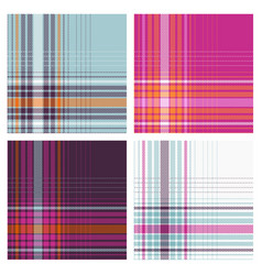seamless pink blue checked patterns vector image