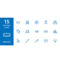 Service icons vector