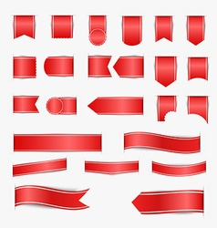 set red ribbons vector image