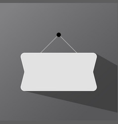 Signboard hanging on a dark background vector