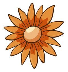 Single flower in orange vector