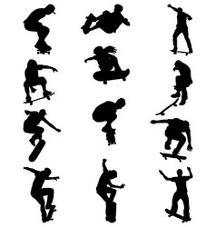Skate jumpers vector