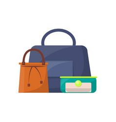 summer mode collection of bags vector image