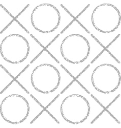 the pattern gray grunge circles and crosses vector image