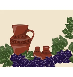 Traditional Jug of wine vector image