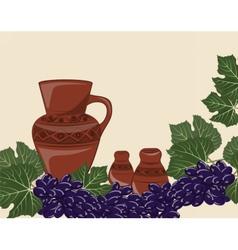 Traditional Jug of wine vector