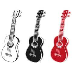 Ukulele set vector