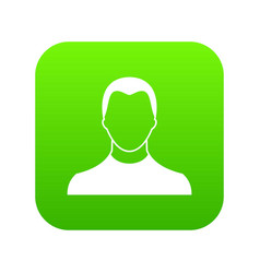 user icon digital green vector image