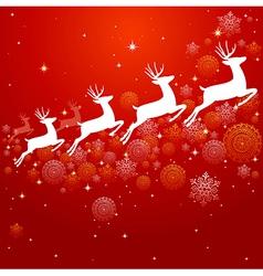 Vintage Christmas elements background design EPS10 vector image