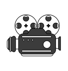 vintage video camera design vector image