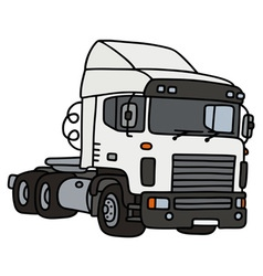 White towing truck vector