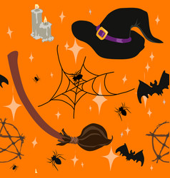 Wicca witchcraft halloween seamless pattern vector