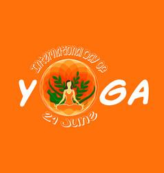 Yoga day 12062113 vector