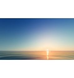 Beautiful Sunset at the seaside vector image
