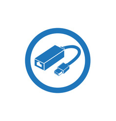 Cable wire computer and plug icons set vector