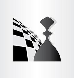 chess symbol pawn design vector image
