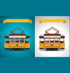 retro tram xxl icon vector image vector image