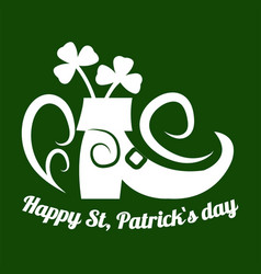 saint patrick day symbol of leprechaun shoe and vector image