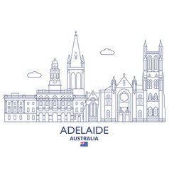 adelaide city skyline vector image vector image