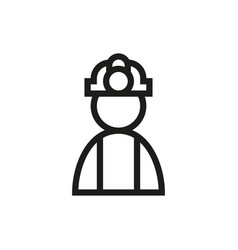 coal miner icon on white background vector image