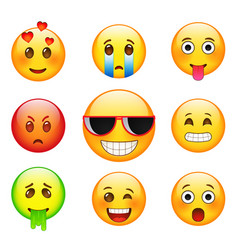 facial expressions emotions sadness vector image vector image