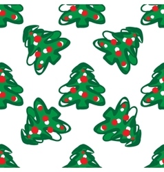 Seamless pattern of christmas trees vector