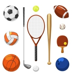 sport equipment icons Sports exercises vector image vector image