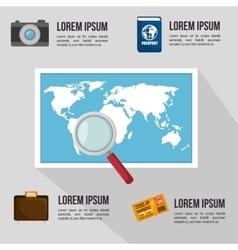 travel infographic design vector image