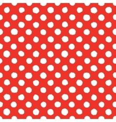 Abstract hand drawn polka dots seamless vector image