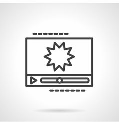 Black line icon for video effects vector image