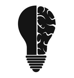 Brain lamp icon simple vector