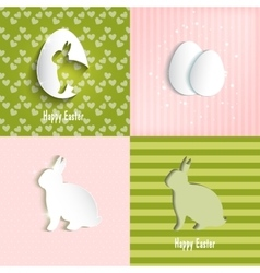 Easter celebrations greeting card set vector image