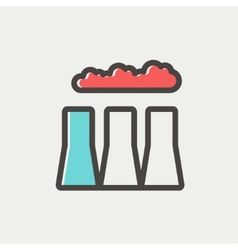 Factory pipe thin line icon vector image