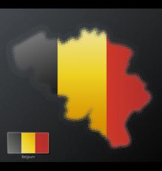 halftone map design vector image vector image
