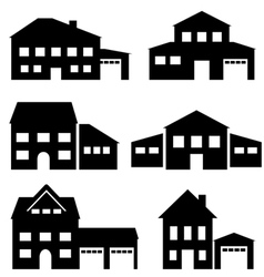 Houses7 vector image vector image