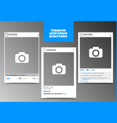 white photo frame for social network picture with vector image