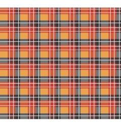 Orange plaid fabric vector image vector image