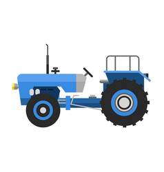 type of agricultural vehicle blue tractor or vector image