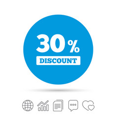 30 percent discount sign icon sale symbol vector image