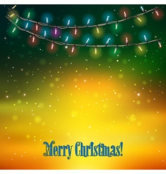 Abstract holydays background with Christmas lights vector