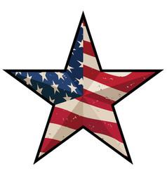 American patriotic barn star vector