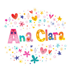Ana clara girls name vector