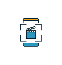 augmented reality video icon outline filled vector image