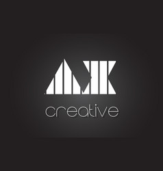 ax a x letter logo design with white and black vector image